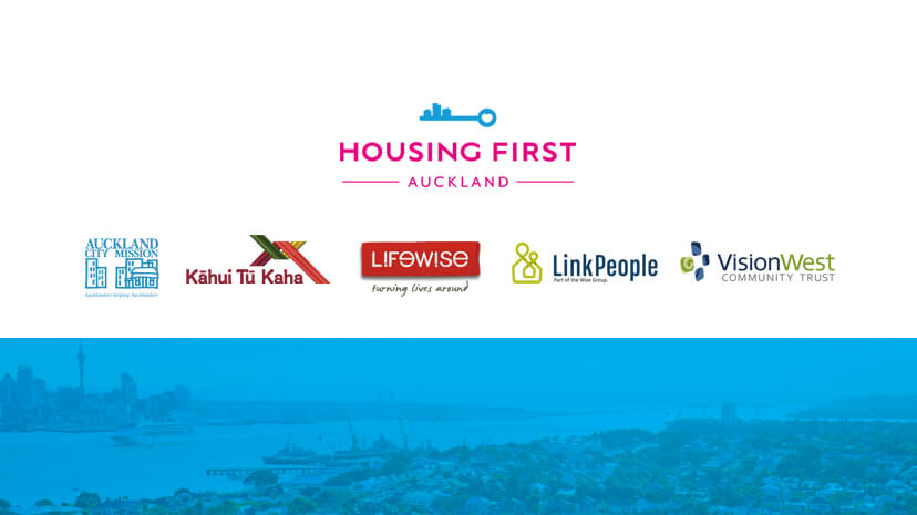 We are five Housing First services working together to end homelessness in Auckland. We are: Kāhui Tū Kaha (formerly Affinity Services), Lifewise together with Auckland City Mission, LinkPeople and VisionWest. Our Collective is called Housing First Auckland. Our goal is to end homelessness, not manage it. We are funded through an investment from the Government and Auckland Council.