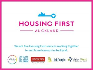 Housing First Auckland Collective, Affinity, Auckland City Mission, Lifewise, LinkPeople, VisionWest