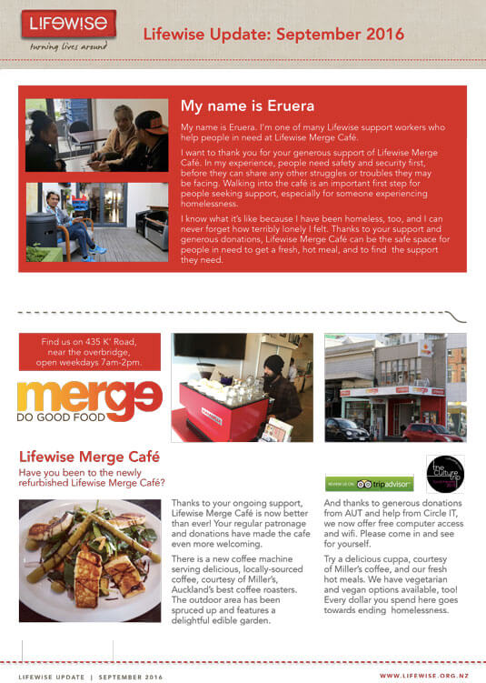 lifewise, merge cafe, support worker, housing first, big community sleepout, big sleepout, vital 5, world homeless day