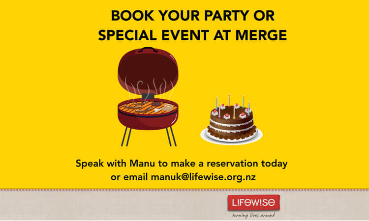 Book your party or special event at Merge Cafe