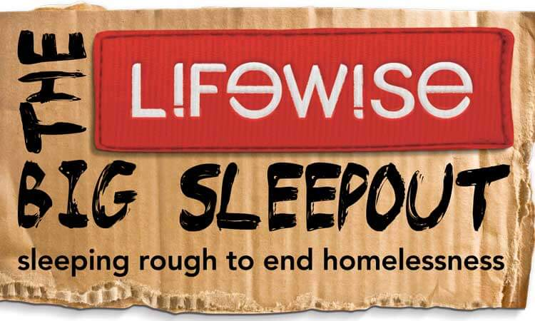 Lifewise Big Sleepout, homelessness, sleeping rough