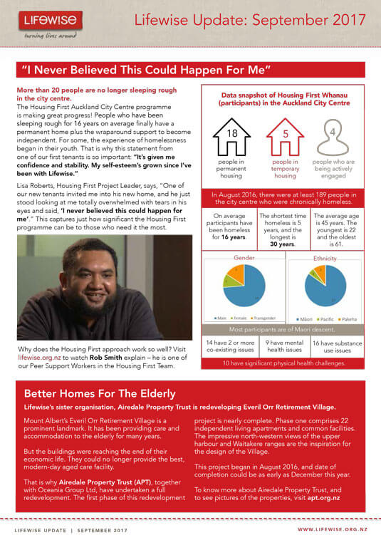 Click to download a PDF of the Lifewise Update: September 2017