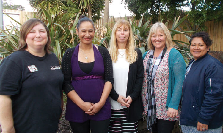 From left: Sarah, Marlena, Andrea, Sharon, and Valda, are some of Vital 5's teachers.