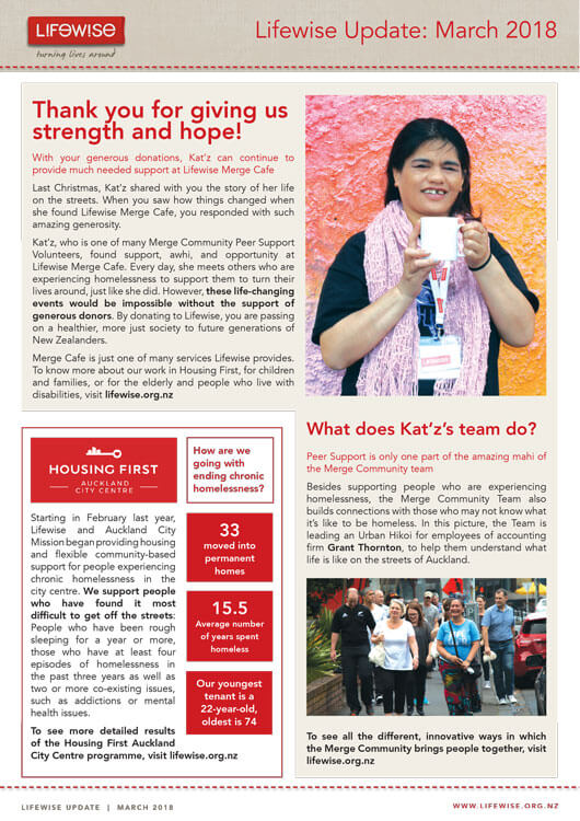 newsletter, lifewise, housing first, merge community