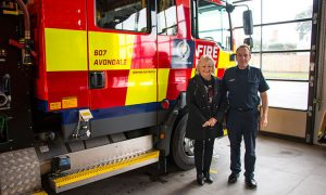 Lifewise Case Manager, Glenis Drew, and Fire And Emergency officer David Wood